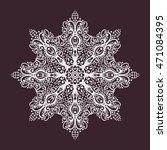 flower snowflake mandala.... | Shutterstock .eps vector #471084395