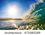 Glossy Glittering Sea Wave....