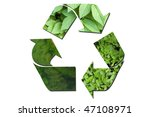 a recycle sign made up of three ...   Shutterstock . vector #47108971