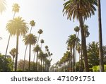 palm trees cascading down... | Shutterstock . vector #471091751