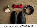 wedding details. groom... | Shutterstock . vector #471093497