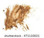 drops of mud sprayed isolated... | Shutterstock . vector #471110021