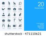 set of blue hamster library... | Shutterstock .eps vector #471110621