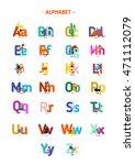 colorful children alphabet... | Shutterstock .eps vector #471112079