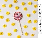 Colorful Bright Lollipop And...
