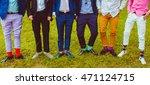 groom and groomsmen in colored... | Shutterstock . vector #471124715