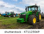 Green Tractor With Big Wheels...