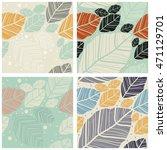 set of four seamless textures . ... | Shutterstock .eps vector #471129701