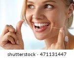 Teeth Care. Closeup Of...
