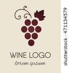 red colored grapes logo. wine... | Shutterstock .eps vector #471134579