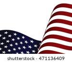 waving usa flag top half...   Shutterstock .eps vector #471136409