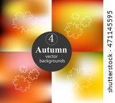 set of autumn gradient mesh.... | Shutterstock .eps vector #471145595