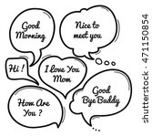 hand drawn speech bubble ... | Shutterstock .eps vector #471150854