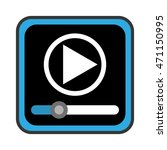 media player control panel icon ...
