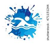 athlete sport watercolor splash ... | Shutterstock .eps vector #471151244