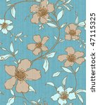 retro floral seamless background | Shutterstock . vector #47115325