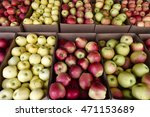 Fresh Ripe Organic Apples In A...