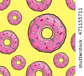 donuts with pink icing.... | Shutterstock .eps vector #471155711