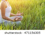 yoga in the city  beautiful... | Shutterstock . vector #471156305