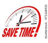 save time sign. vector... | Shutterstock .eps vector #471168431