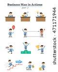 business man in actions. part 2 | Shutterstock .eps vector #471171944