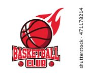 basketball club logo icon vector | Shutterstock .eps vector #471178214