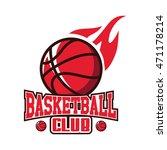 basketball club logo icon vector   Shutterstock .eps vector #471178214