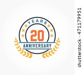 blue orange anniversary logo... | Shutterstock .eps vector #471179951