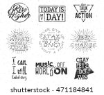 inspirational typography life...   Shutterstock . vector #471184841