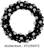 the monochrome wreath imaged... | Shutterstock .eps vector #471196571