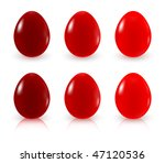 painted easter eggs | Shutterstock .eps vector #47120536