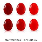 painted easter eggs   Shutterstock .eps vector #47120536