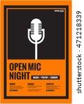 open mic night   flat style... | Shutterstock .eps vector #471218339