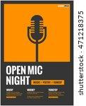 open mic night   flat style... | Shutterstock .eps vector #471218375