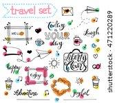 collection of cartoon elements. ... | Shutterstock .eps vector #471220289