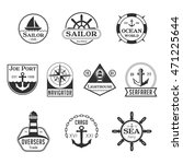 black sea marine badges logos | Shutterstock .eps vector #471225644