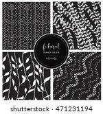 black and white pattern. black... | Shutterstock .eps vector #471231194