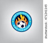 soccer logo emblem design... | Shutterstock .eps vector #471241145