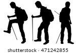 silhouettes of men trekking | Shutterstock .eps vector #471242855