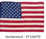 flag of usa surface isolated on ... | Shutterstock . vector #47126470