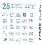 vector set of icons in linear... | Shutterstock .eps vector #471268739