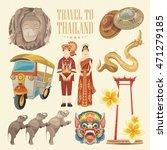 travel thailand landmarks. thai ... | Shutterstock .eps vector #471279185