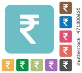 flat indian rupee sign icons on ... | Shutterstock .eps vector #471300635