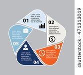 business infographic pentagon | Shutterstock .eps vector #471313019