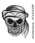 skull with bandana | Shutterstock .eps vector #471314189