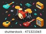 rock music equipment 3d... | Shutterstock .eps vector #471321065