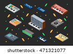 electronic music synthesizers... | Shutterstock .eps vector #471321077