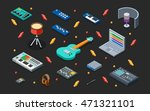 home music studio 3d isometric... | Shutterstock .eps vector #471321101