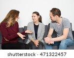 three adults having an positive ... | Shutterstock . vector #471322457