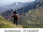 climbers in the high mountain | Shutterstock . vector #471324629